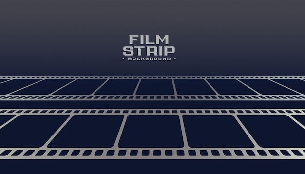 Cinema film strip reel perspective background