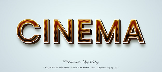 Cinema  font style effect