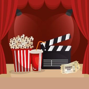 Cinema food with film icons