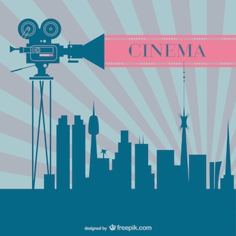 Cinema industry retro background