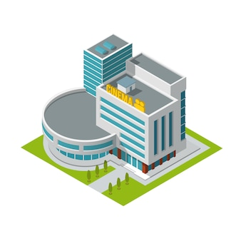 Cinema, isometric building