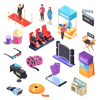 Cinema isometric set