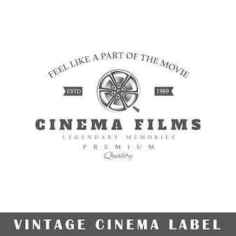흰색 배경에 고립 된 영화 레이블