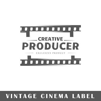 Cinema label isolated on white background