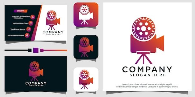 Cinema logo movie emblem template vector