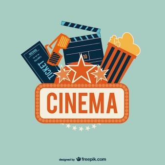 Cinema logo with popcorn