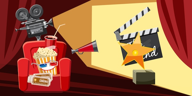 Cinema movie award background