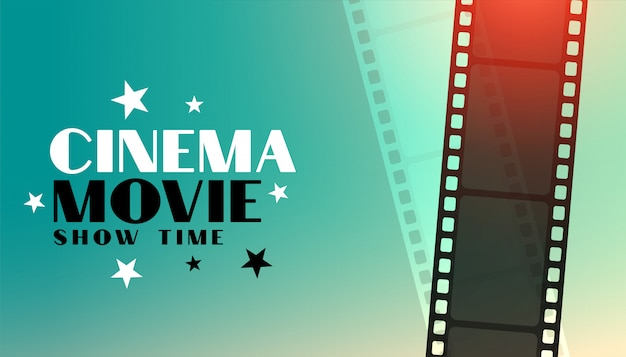Cinema movie background with film strip design