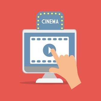 Cinema movie computer digital concept