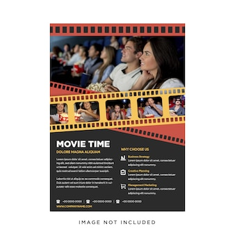 Cinema movie festival poster template