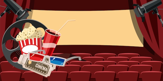 Cinema movie hall background