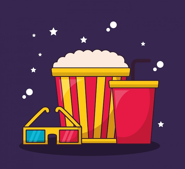 Cinema movie illustration
