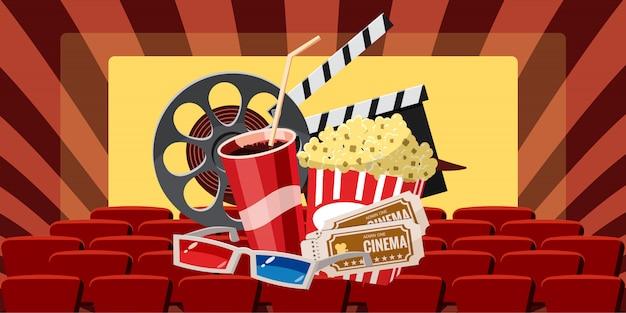 Cinema movie premiere background