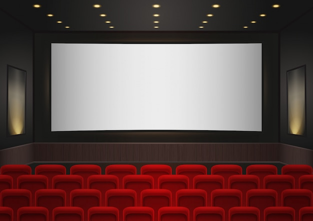 Cinema movie theatre interior