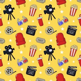 Cinema pattern seamless.