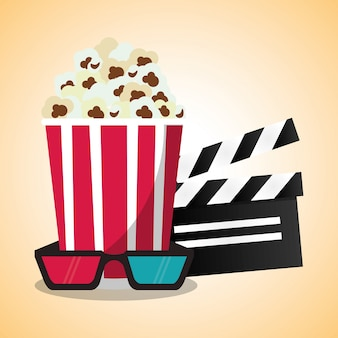 Cinema pop corn clapper и 3d-очки