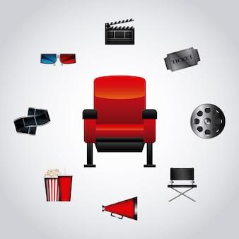 Cinema related icon set