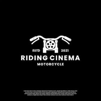 Cinema riding logo design template