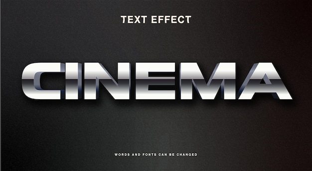 Cinema text style effect