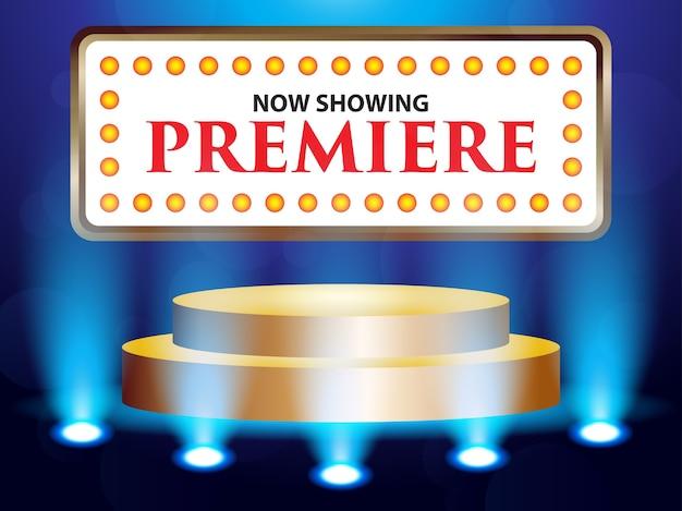 Театр кинотеатра ретро записать с занавеской с подсветкой