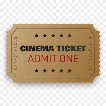 Cinema ticket isolated.