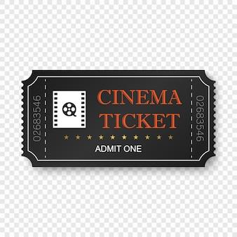 Cinema ticket isolated