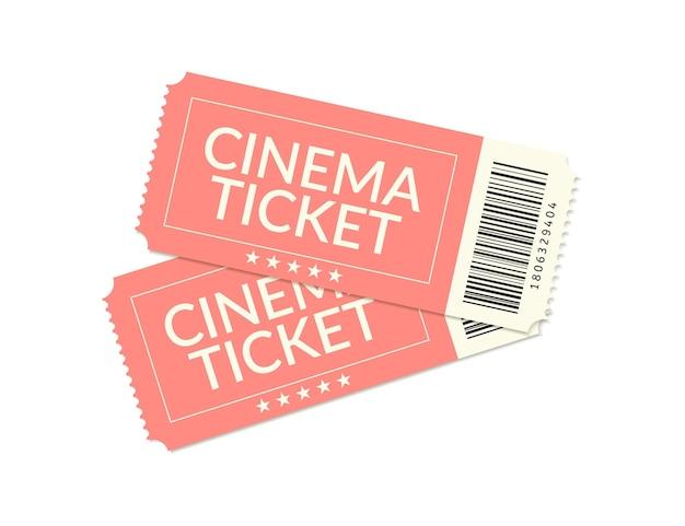 Билет в кино, винтажный купон, реалистичный