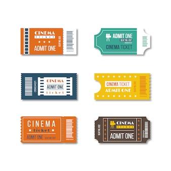 Cinema tickets design.