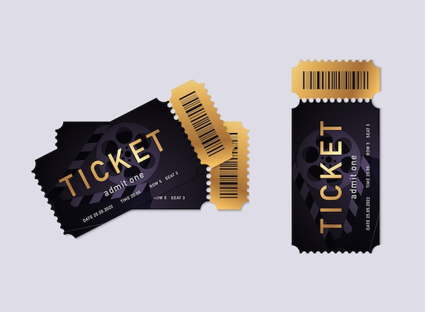 Cinema tickets illustration
