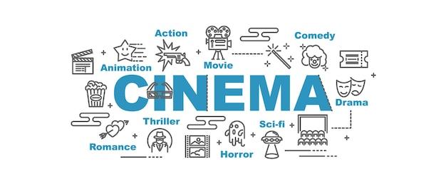 Cinema vector banner