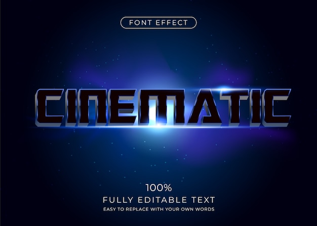 Cinematic text effect. editable font style