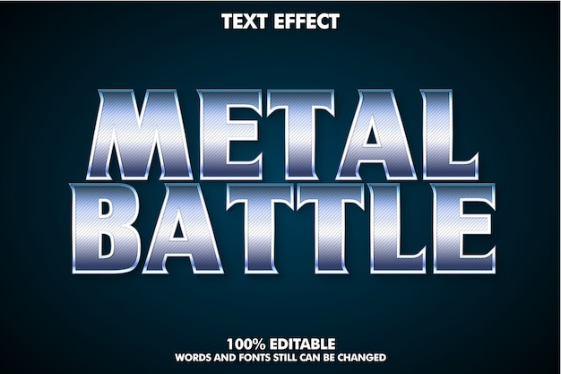 Cinematic text effect for movie title, metal text effect