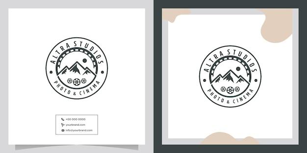 Cinematography logo design video cinema film and photo studio