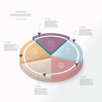 Круг 3d инфографика.