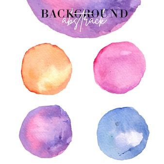 Circle of abstract background from watercolor.
