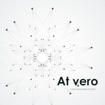 Круг абстрактное соединение, науки или технологии концепции