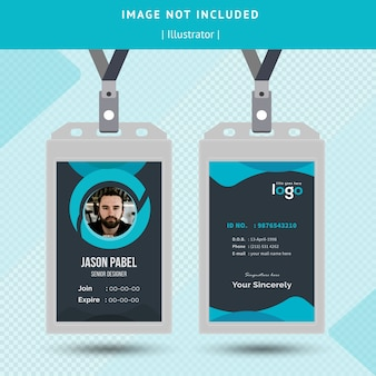 Circle abstract id card design