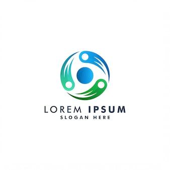Круг абстрактный логотип шаблон иллюстрации