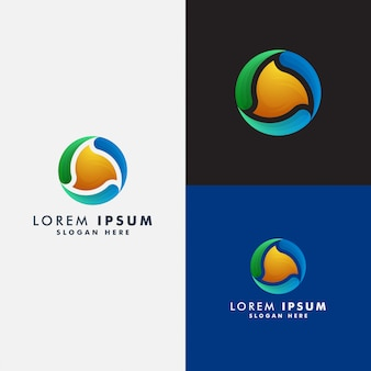 Круг абстрактный логотип шаблон