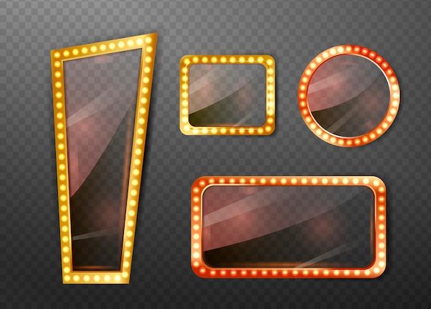 Круглые и прямоугольные рамки зеркал