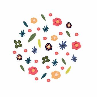 Circle around flowers vector