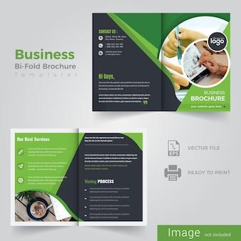 Circle bi fold brochure design