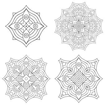 サークル黒と白の飾り、装飾用の丸いレースコレクション