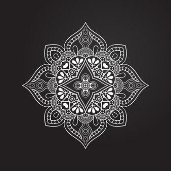 원형 흑백 장식, 장식 라운드 레이스 컬렉션