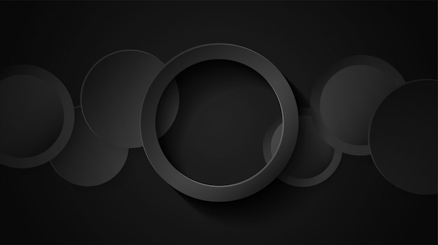 Circle black overlap background