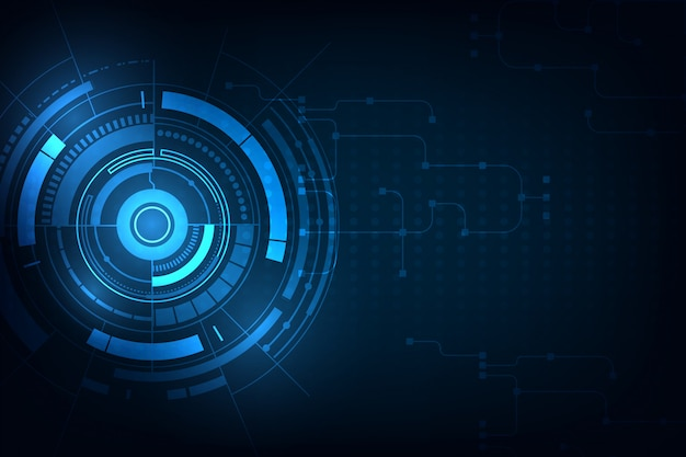 Circle blue abstract technology innovation background