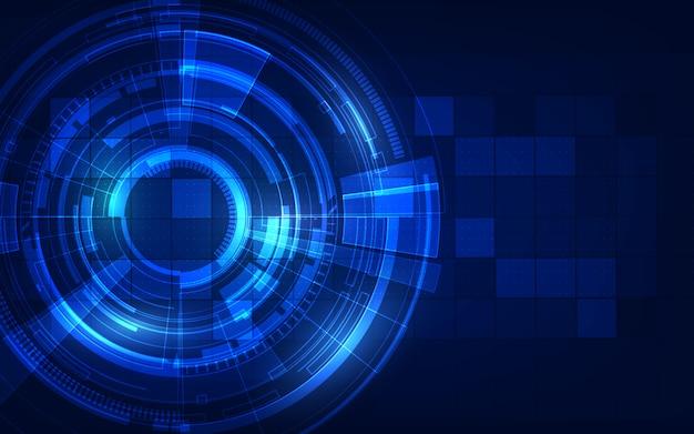 サークルブルー抽象的な技術革新の概念の背景