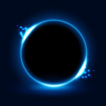 Circle blue light