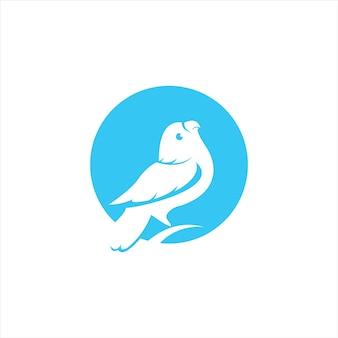 Круг синий попугай логотип