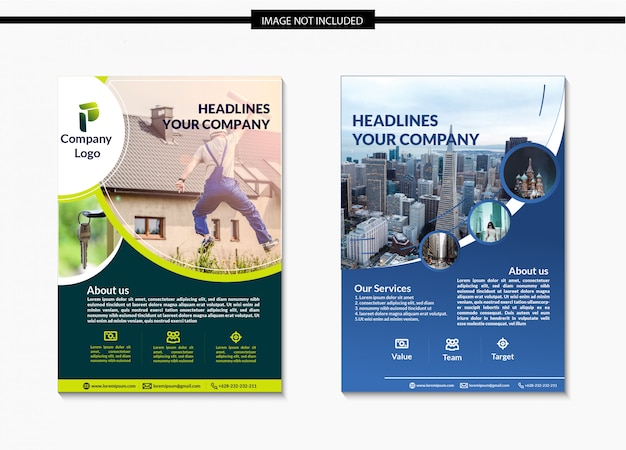 Circle business flyer template